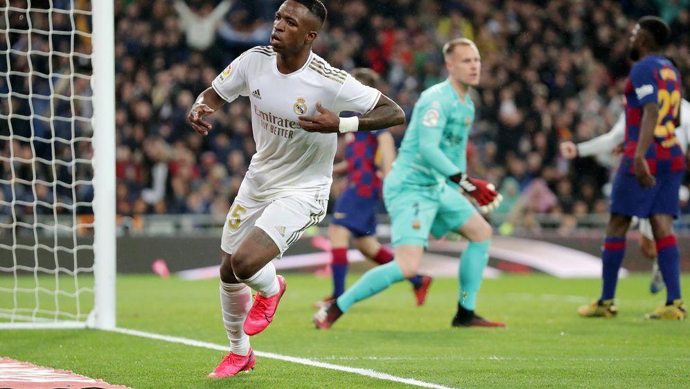 Erzielte das 1:0 für Real Madrid: Vinicius. - Bildquelle: 2019 Getty Images