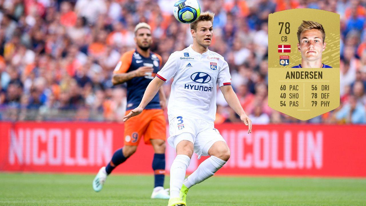 20. Joachim Andersen (Olympique Lyon) - Bildquelle: imago images / PanoramiC