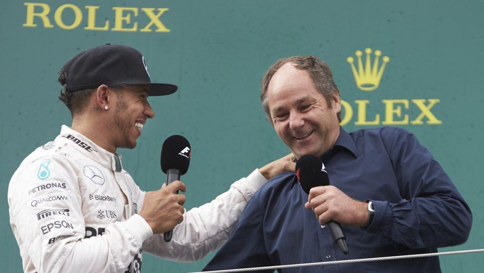 Lewis Hamilton, Gerhard Berger - Bildquelle: LAT