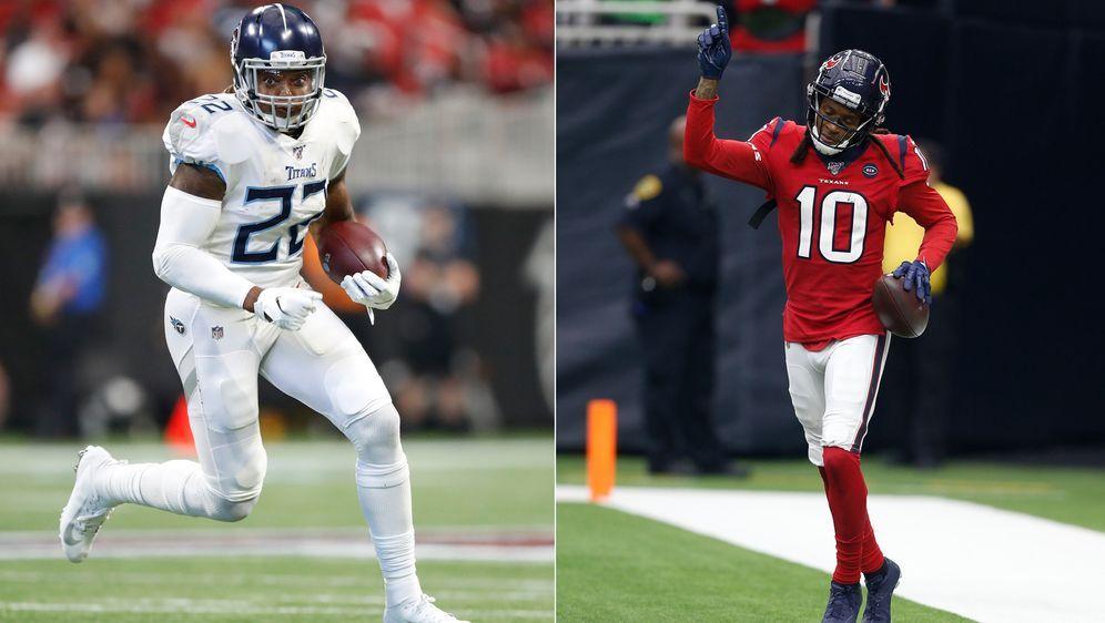 Die beiden Shootingstars der Teams: Derrick Henry und DeAndre Hopkins - Bildquelle: Getty Images