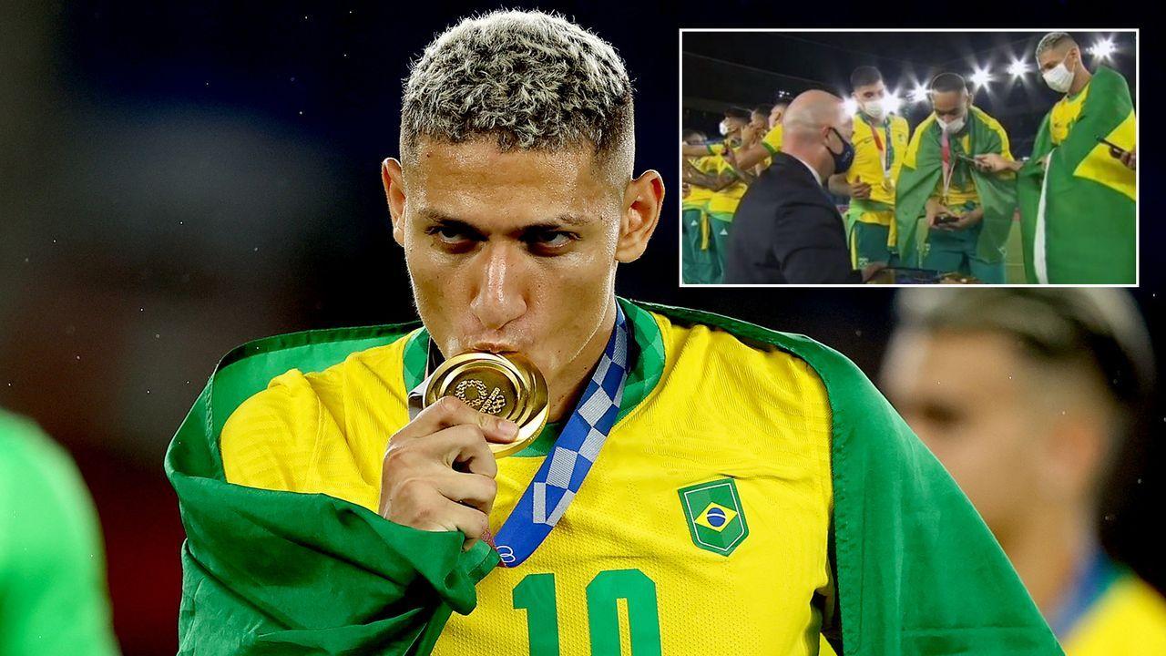 "Olympiasieger Richarlison beleidigt FIFA-Präsident Infantino als ""Glatzkopf"" - Bildquelle: Getty Images/twitter@BFRmariasilva"
