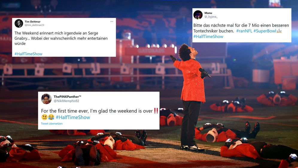 Gespaltete Meinungen zur Halftime Show von den The Weeknd. - Bildquelle: Getty Images/twitter.com