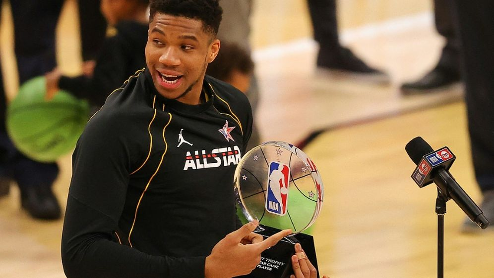 Antetokounmpo MVP im Allstar-Game - Bildquelle: AFPGETTY SIDKEVIN C. COX