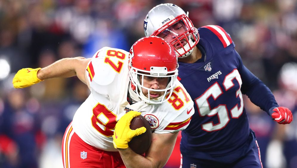 Travis Kelce läuft für ein 4-Yard-Touchdown - Bildquelle: Getty Images