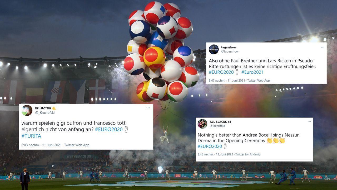 Netzreaktionen zur EM-Eröffnungsfeier - Bildquelle: Getty Images/twitter@_Krustofski/twitter@tagesshow/twitter@fakhriffkd