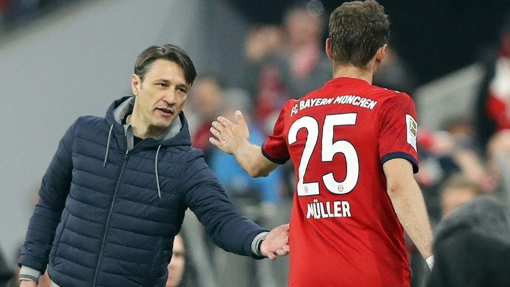 Müller (r.) sieht bei den Bayern kein Trainer-Problem - Bildquelle: FIROFIROSID