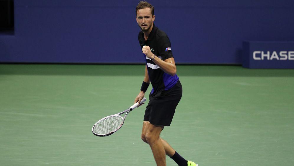 In New York im Viertelfinale:Daniil Medwedew - Bildquelle: Getty Images