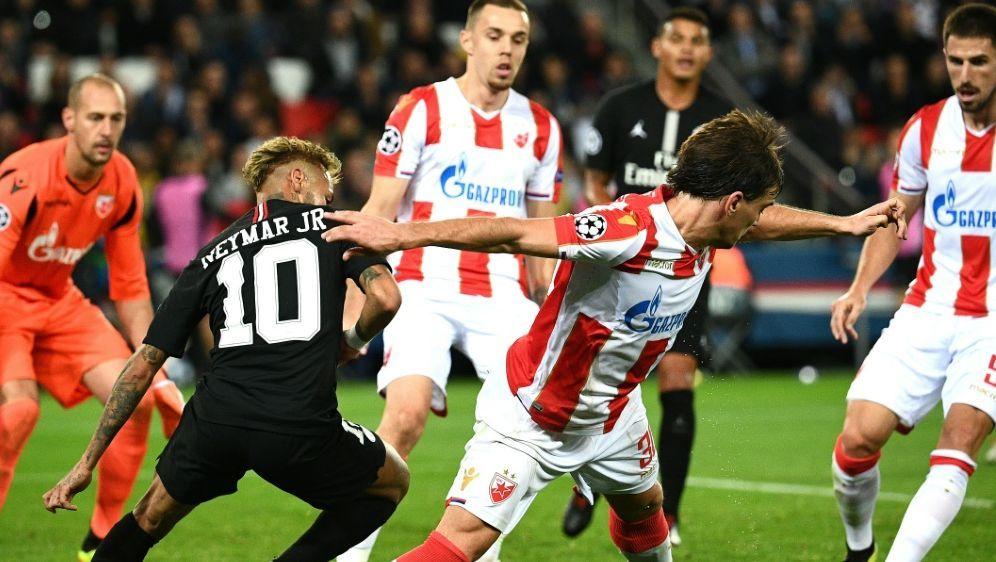 Neymar erzielte im Spiel gegen Belgrad gleich drei Tore - Bildquelle: AFPSIDFRANCK FIFE