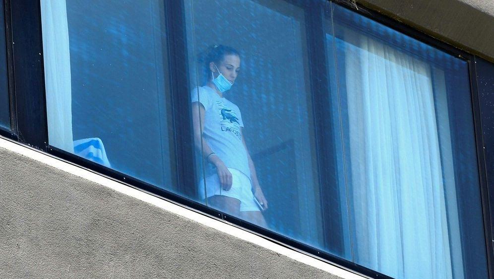Tennisprofis befinden sich in Hotel-Quarantäne - Bildquelle: AFPSIDWILLIAM WEST