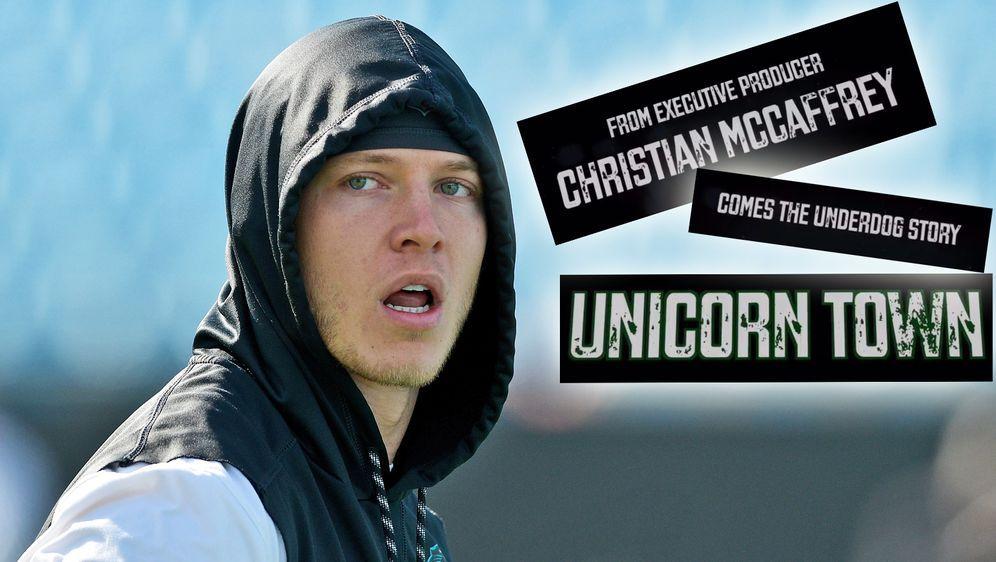 Christian McCaffrey bringt die Schwäbisch Hall Unicorns groß raus. - Bildquelle: getty images, twitter.com/run__cmc