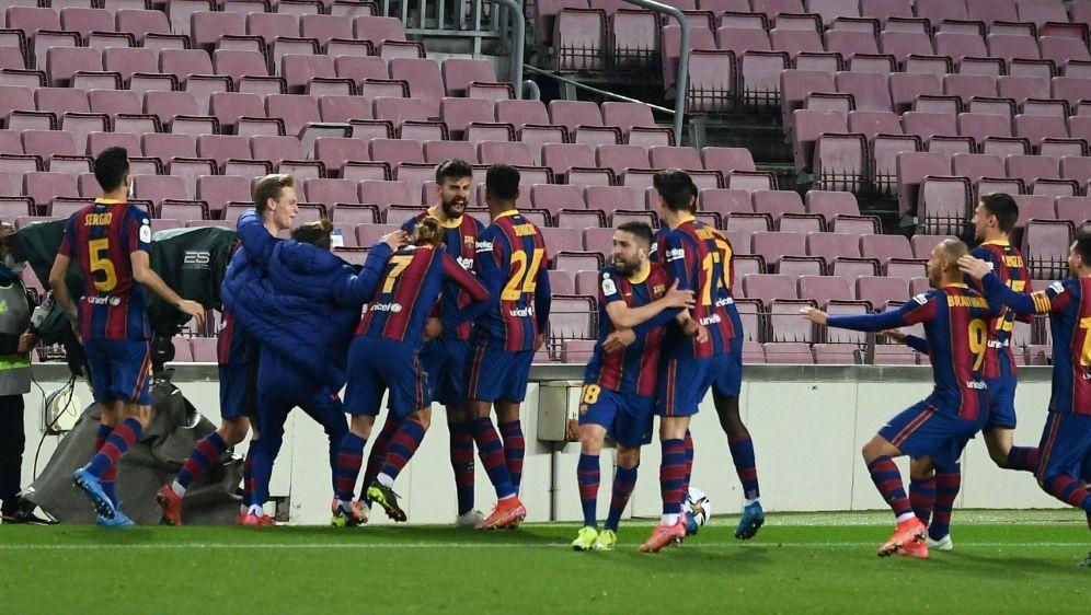 Barca bejubelt Finaleinzug im Pokal - Bildquelle: AFPSIDJOSEP LAGO