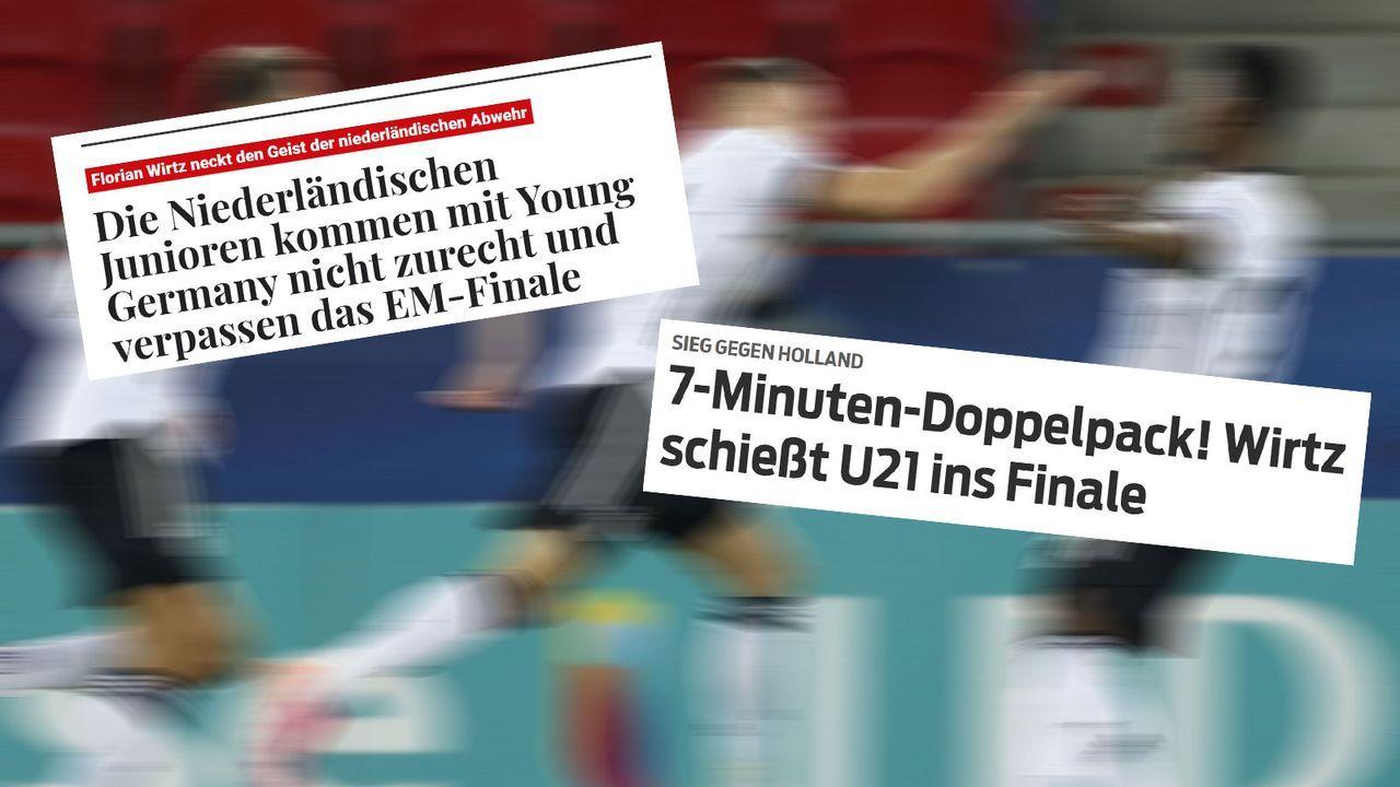 Pressestimmen zum Finaleinzug der deutschen U21 - Bildquelle: Imago Images/sportbild.bild.de/telegraaf.nl
