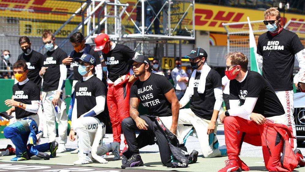 Blm Aktion Nicht Alle Formel 1 Fahrer Knien Nieder