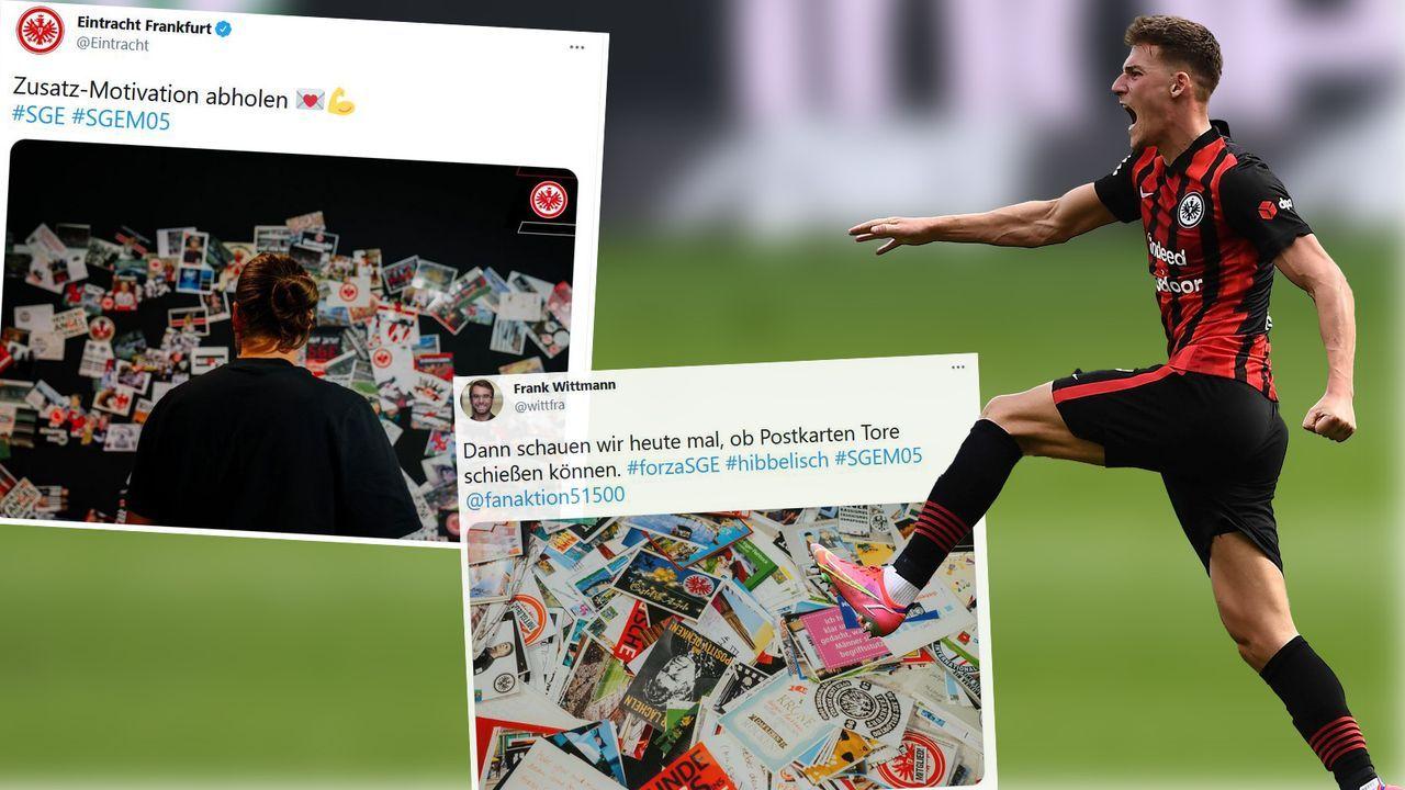 10.000 Postkarten! - Eintracht-Fans liefern Extra-Motivation - Bildquelle: Imago Images / Twitter Eintracht Frankfurt/Frank Wittmann