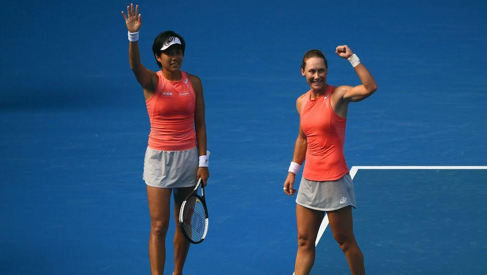 Stosur (re.) und Zhang triumphierten im Doppel - Bildquelle: Getty Images