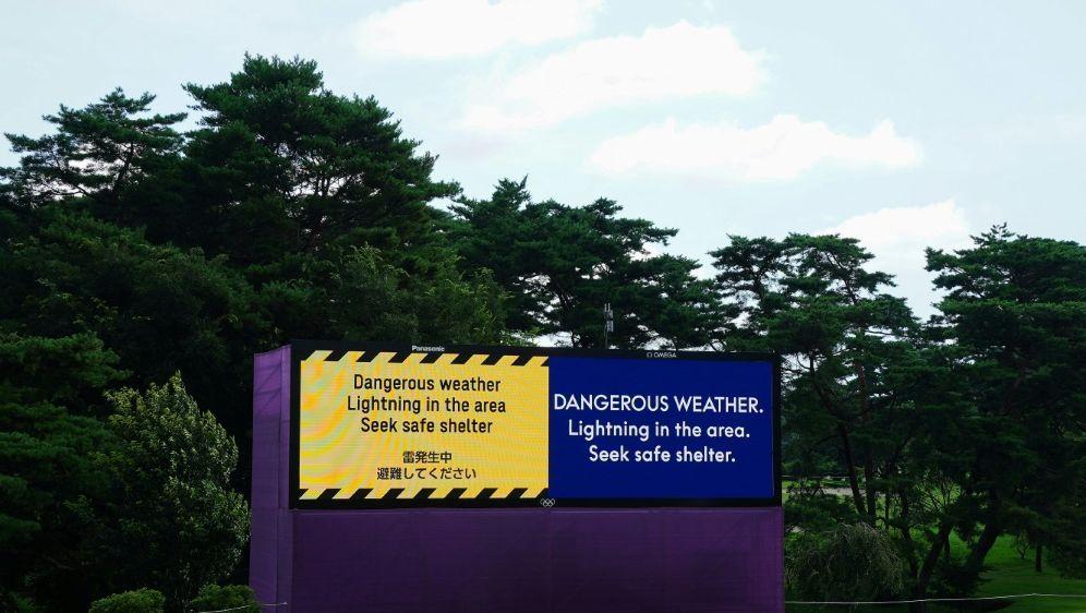 Olympisches Golfturnier wegen Gewitter unterbrochen - Bildquelle: AFPSIDYOSHIHIRO IWAMO