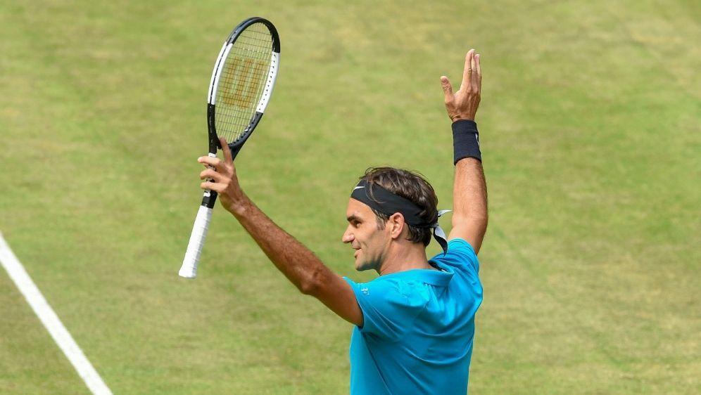 Federer will in Halle zum zehnten Mal gewinnen - Bildquelle: AFPSIDCARMEN JASPERSEN