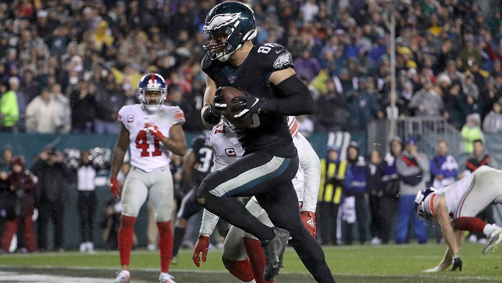 Zach Ertz wird zum Eagles-Matchwinner. - Bildquelle: 2019 Getty Images