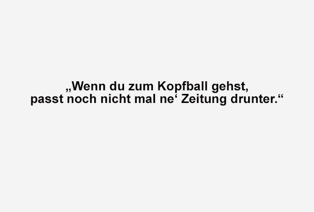 Wenn du zum Kopfball gehst - Bildquelle: ran.de