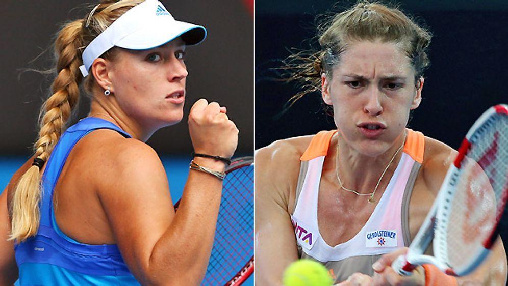 Spielen die Einzel für das deutsche Team: Angelique Kerber (li.) und Andrea ... - Bildquelle: getty