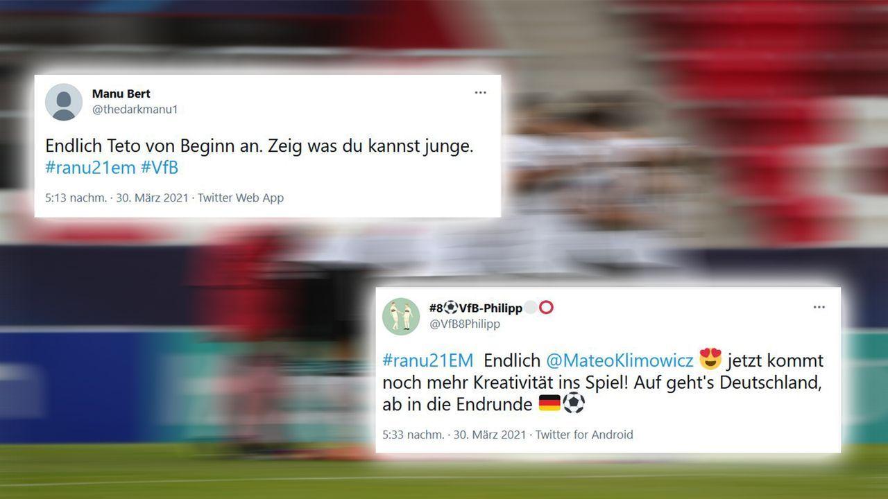Vorfreude auf Klimowicz - Bildquelle: Imago Images / Twitter thedarkmanu1, VfB8Philipp