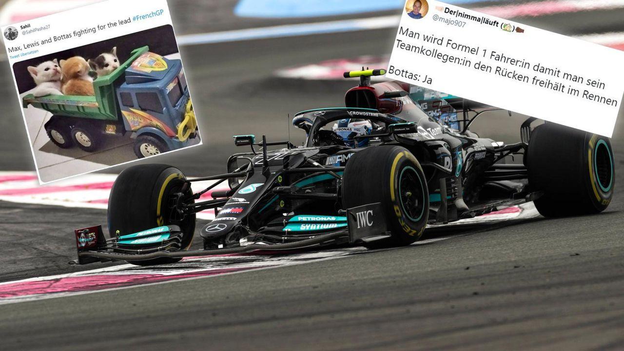"""""""Bottas hat nix im Mercedes zu suchen"""": F1-Netzreaktionen - Bildquelle: imago images/Motorsport Images/Twitter"""