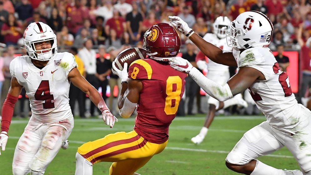 Touchdown! Amon-Ra St. Brown bejubelte gegen Stanford sogar zwei. - Bildquelle: imago images / ZUMA Press