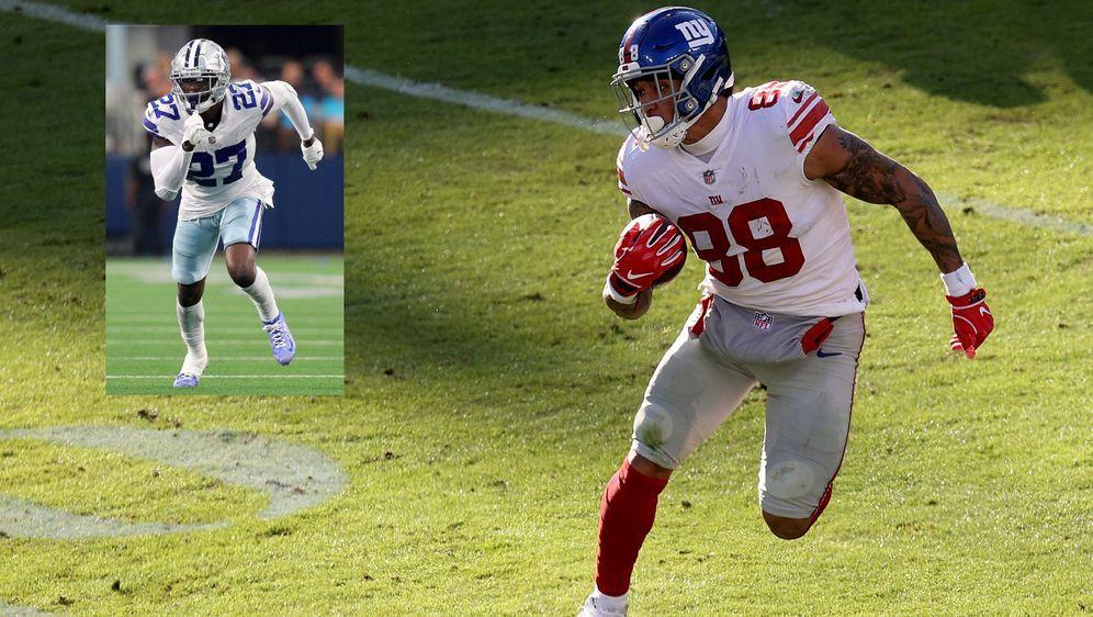 Giants-Tight-End Evan Engram behauptet, Cowboys-Safety Jayron Kearse habe ih... - Bildquelle: Getty