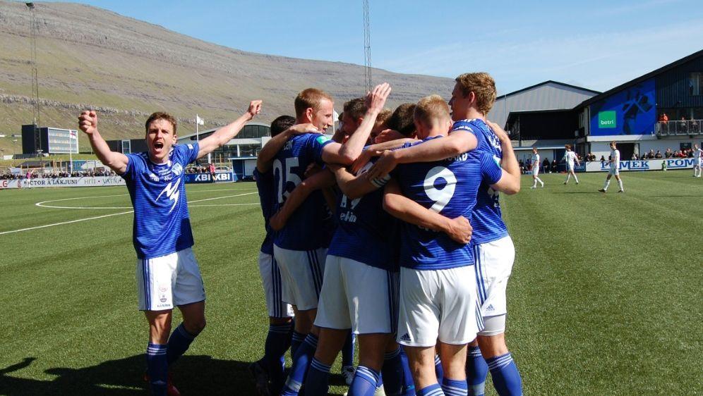 In den Play-offs der Europa League: KI Klaksvik - Bildquelle: AFPSIDPIERRE-HENRY DESHAYES