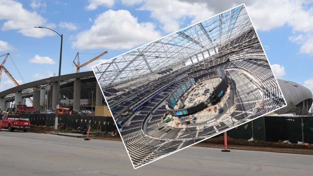 Das neue SoFi Stadium hat die größte Leinwandwand aller Sportstätten. - Bildquelle: imago/NFL