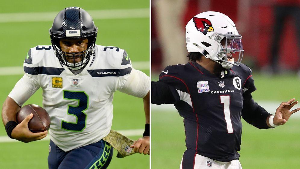Mit Russell Wilson und Kyler Murray treffen zwei MVP-Kandidaten aufeinander. - Bildquelle: Getty Images