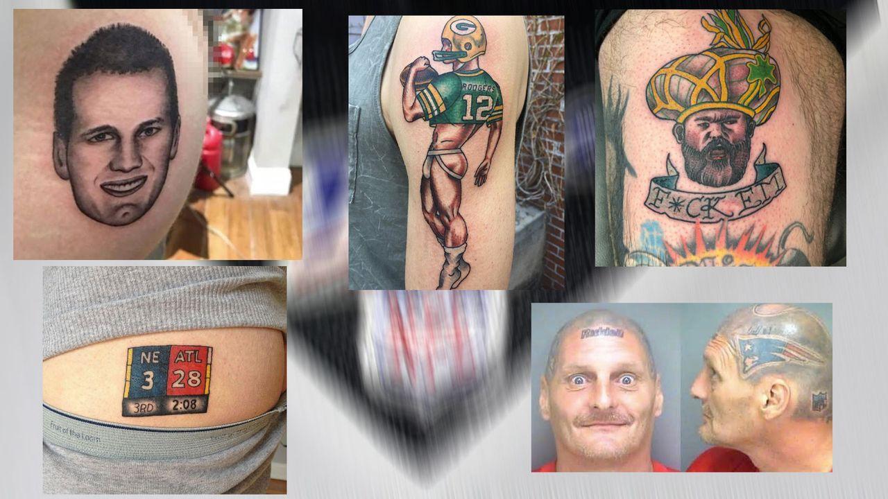 Die verrücktesten Fan-Tattoos zur NFL - Bildquelle: 2019 Getty Images, Twitter, Instagram