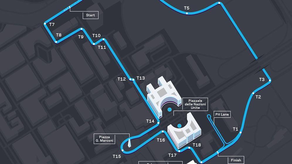 Die Formel E fährt in Rom auf einem neuen Layout - Bildquelle: FIA Formula E