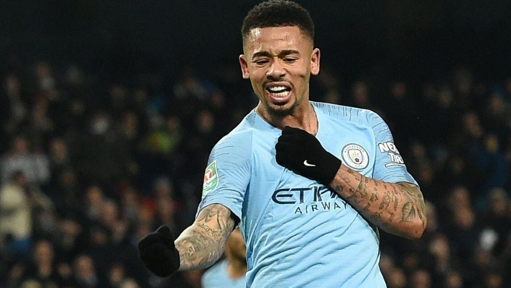 Gabriel Jesus schoss City ins Finale des FA Cups - Bildquelle: AFPSIDPAUL ELLIS
