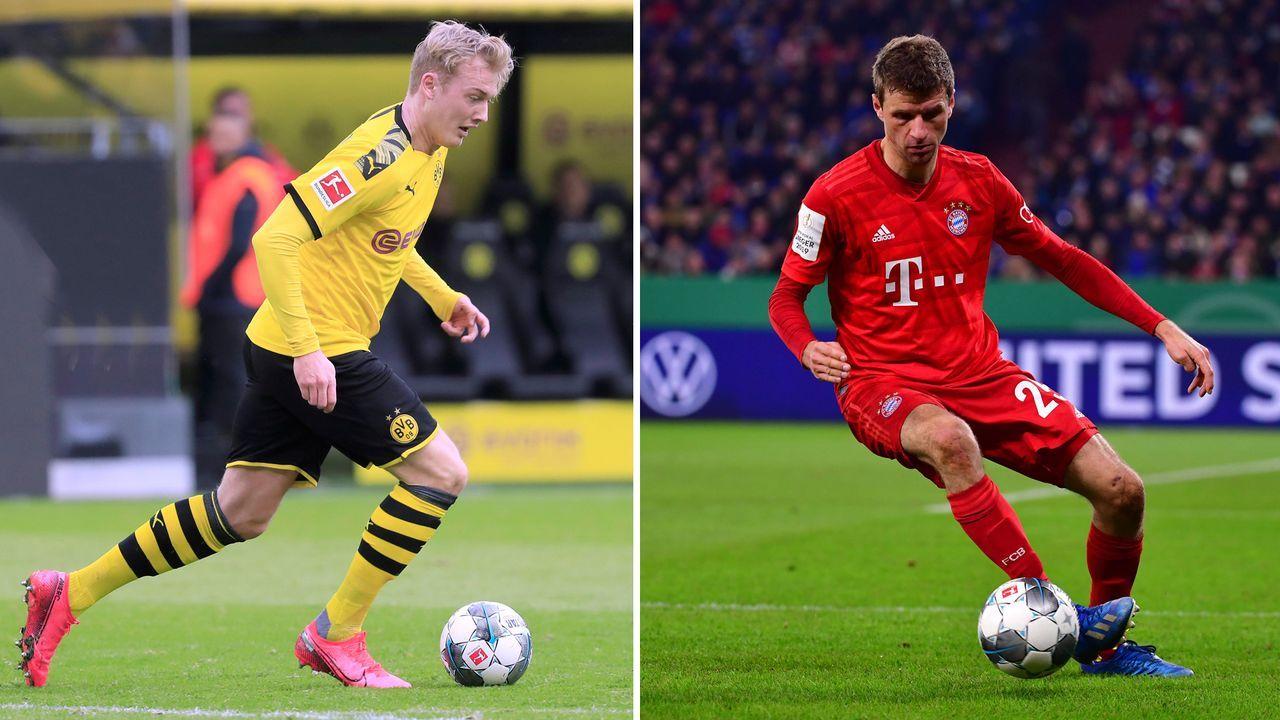 Offensives Mittelfeld: Julian Brandt vs. Thomas Müller - Bildquelle: imago images