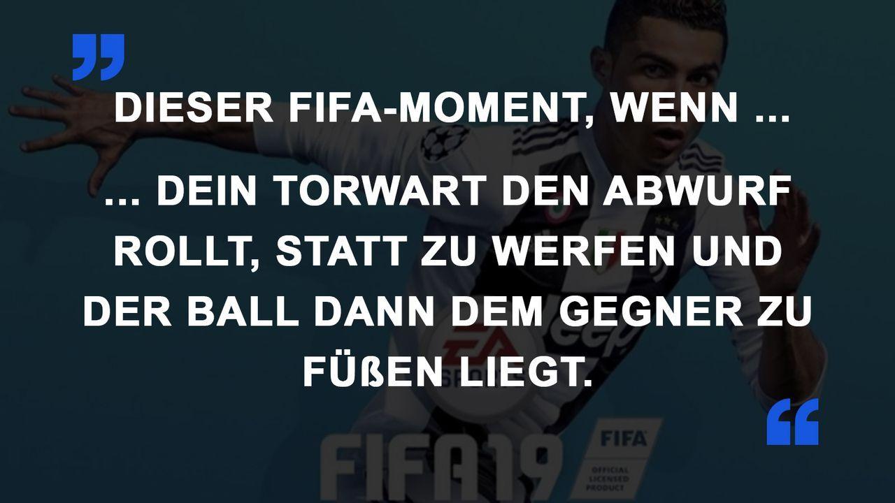 FIFA Momente Abwurf