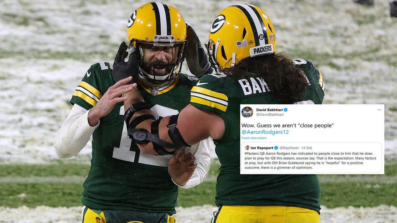 Bakhtiari reagiert überrascht auf Rodgers-Meldung - Bildquelle: Getty Images, Twitter