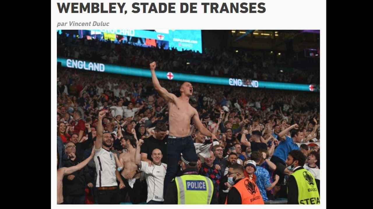 """L´Equipe: """"Wembey, ein Stadion in Trance"""" - Bildquelle: L´Equipe"""