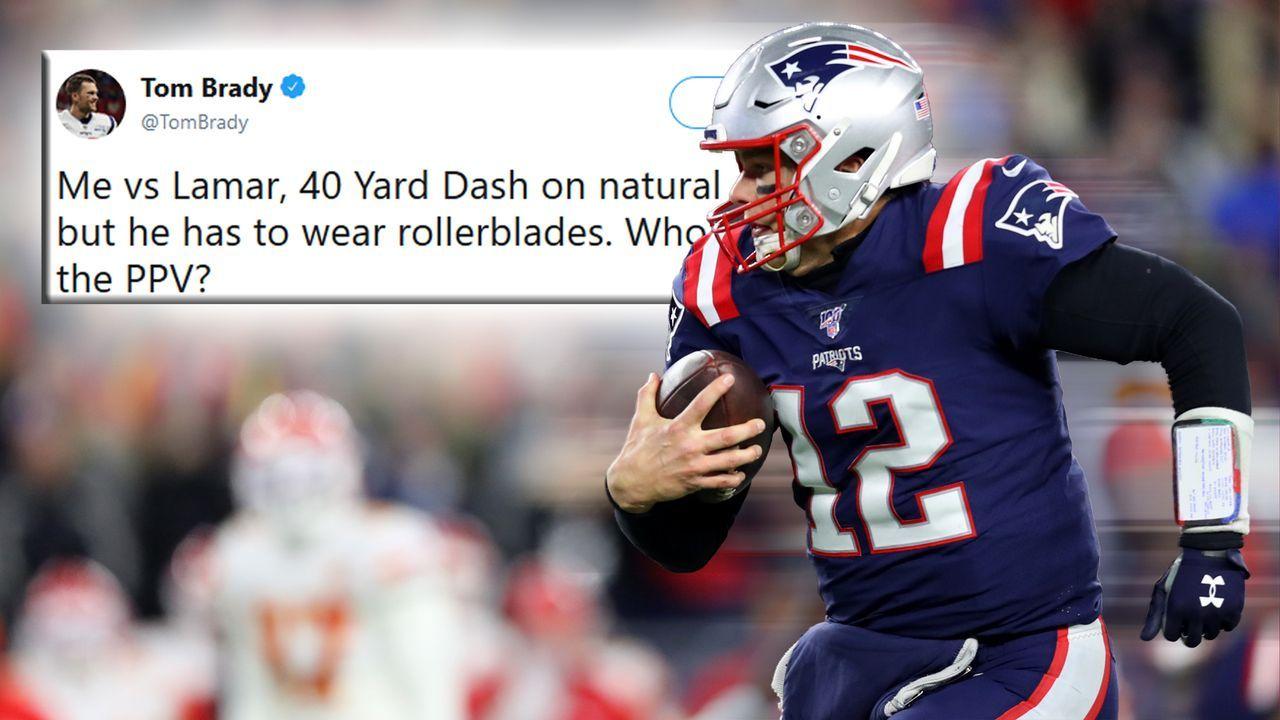 Tom Brady fordert Lamar Jackson zu Sprintduell auf Rollschuhen heraus - Bildquelle: Getty Images