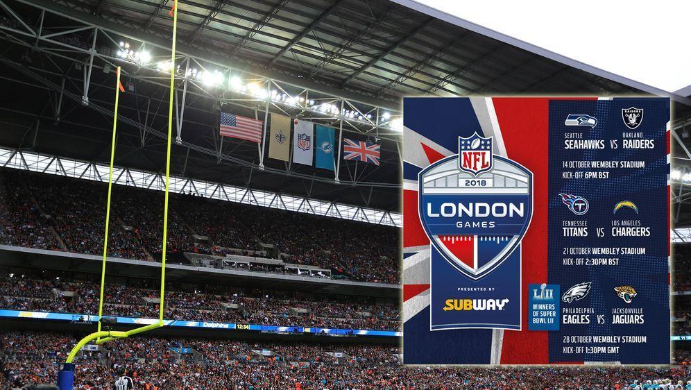 Für die NFL London-Games sind noch Tickets verfügbar - Bildquelle: imago/ Twitter@NFLUK
