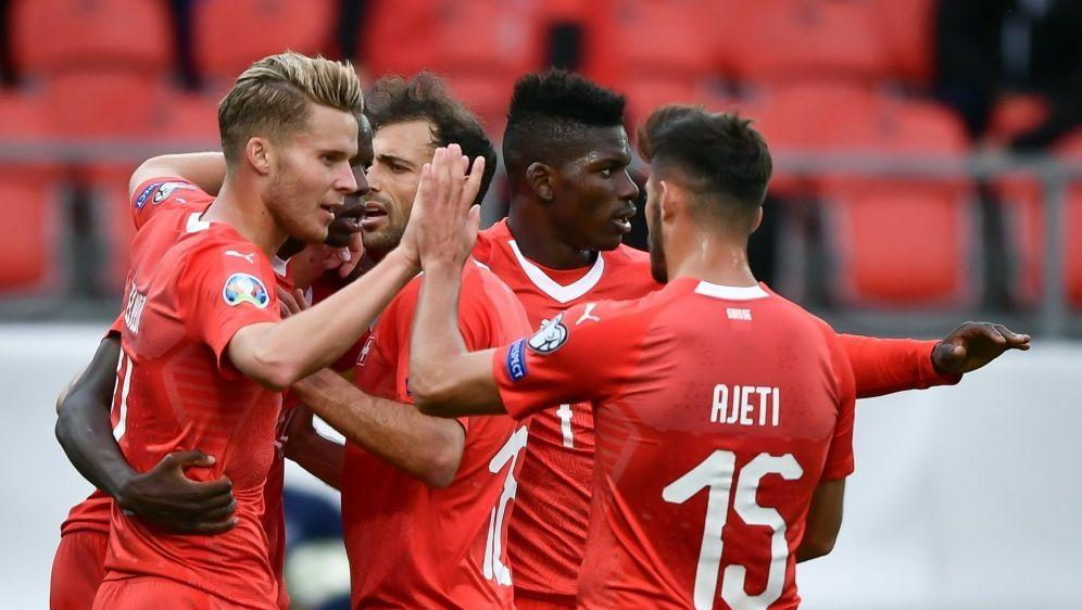Die Schweiz schlug Gibraltar mit 4:0 - Bildquelle: AFPSIDFABRICE COFFRINI