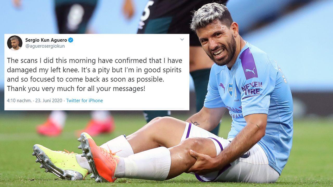 Via Twitter: Kun Agüero bestätigt schwere Knieverletzung - Bildquelle: Getty Images/twitter@aguerosergiokun