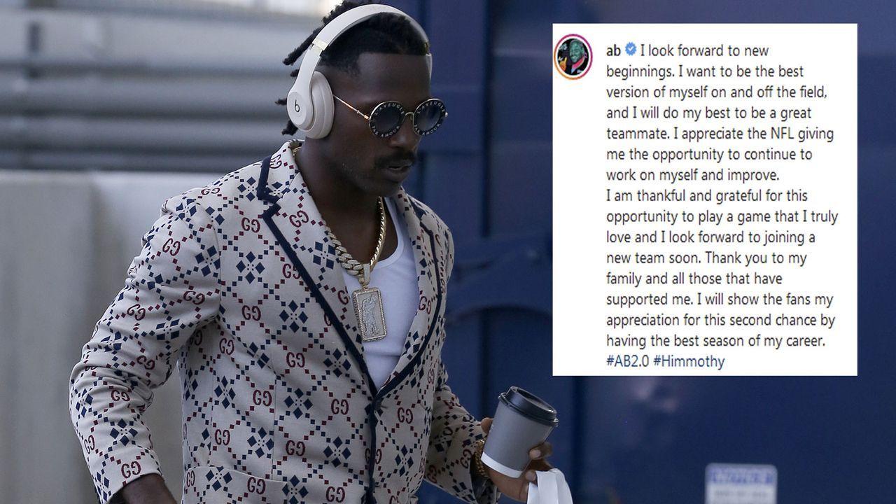 Antonio Brown zeigt sich nach NFL-Sperre dankbar - Bildquelle: Getty Images, Instagram/@ab