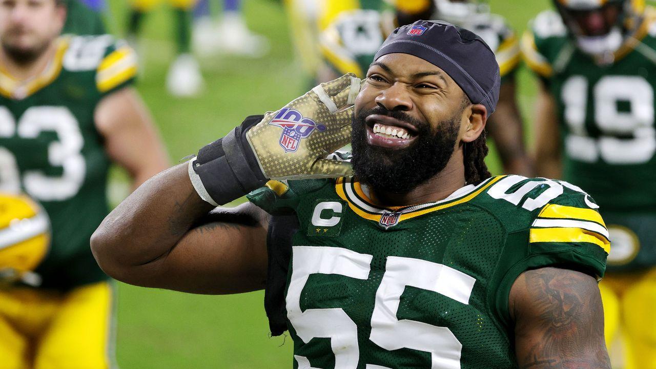 Platz 10: Za´Darius-Smith (Green Bay Packers) - Bildquelle: 2021 Getty Images