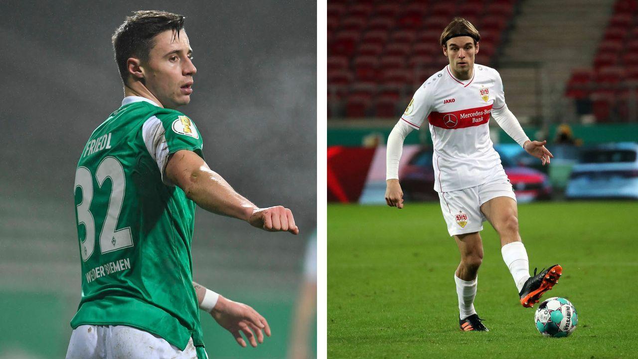 Marco Friedl (Werder Bremen), Borna Sosa (VfB Stuttgart) - Bildquelle: imago