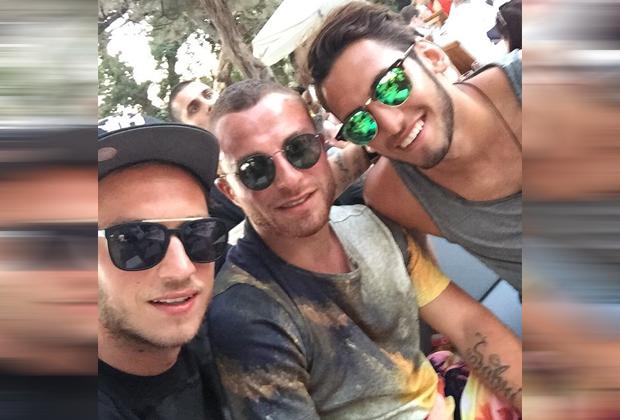 Marko Arnautovic, Gökhan Töre und Hakan Calhanoglu - Bildquelle: Instagram/@gtore_7