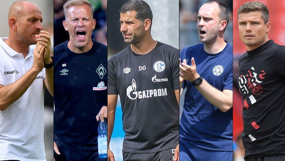 Torsten Lieberknecht, Markus Anfang, Dimitrios Grammozis, Ole Werner und Rob... - Bildquelle: imago