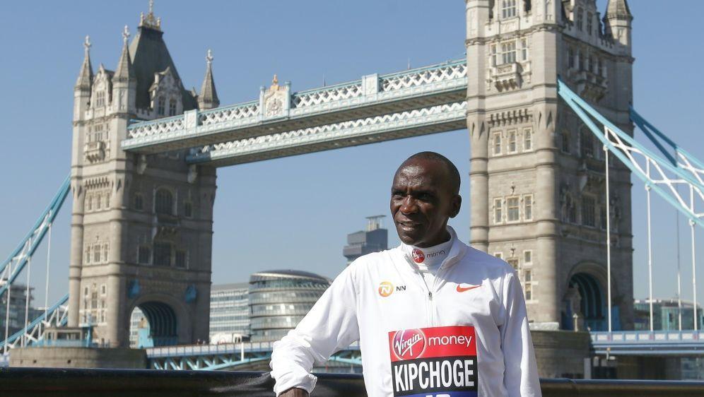Wird in London an den Start gehen: Eliud Kipchoge - Bildquelle: AFPSIDDANIEL LEAL-OLIVAS