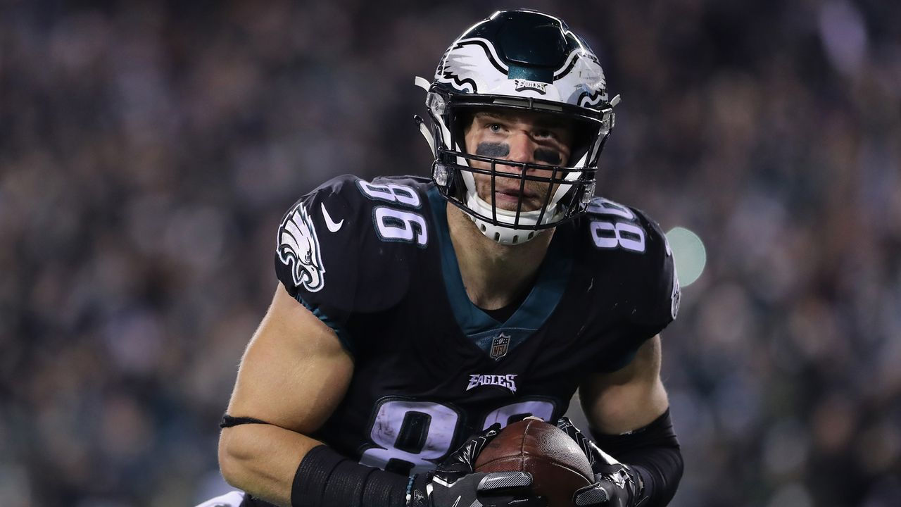 Platz 40: Zach Ertz  - Bildquelle: 2018 Getty Images