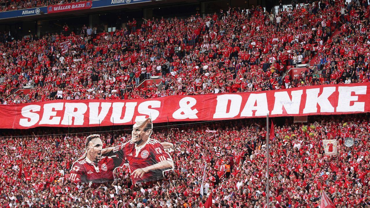 """Bayern-Fans verabschieden """"Robbery"""" mit extra Choreo - Bildquelle: Getty"""